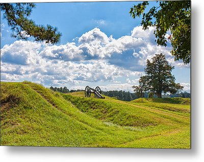 Solitary Cannon At Yorktown Metal Print by John M Bailey