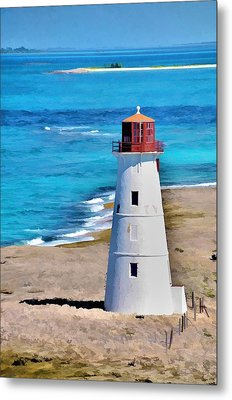 Metal Print featuring the photograph Solitary Lighthouse by Pamela Blizzard