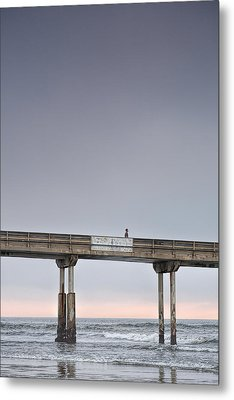 Solitary Metal Print by Peter Tellone
