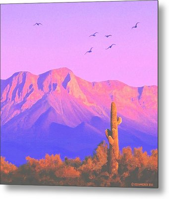 Metal Print featuring the painting Solitary Silent Sentinel by Sophia Schmierer