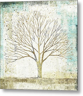 Solitary Tree Collage Metal Print by Avery Tillmon