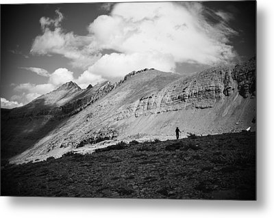 Solitude Below Sperry Glacier Metal Print