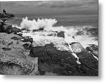 Metal Print featuring the photograph Solitude - Black And White by Photography  By Sai
