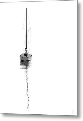 Solitude For Canvas Metal Print by Lar Matre