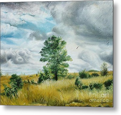 Metal Print featuring the painting Solitude by Sorin Apostolescu