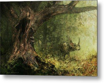 Solitude - Styracosaurus Metal Print by Angie Rodrigues