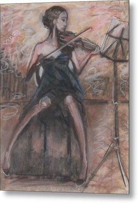 Metal Print featuring the painting Solo Concerto by Jarmo Korhonen aka Jarko