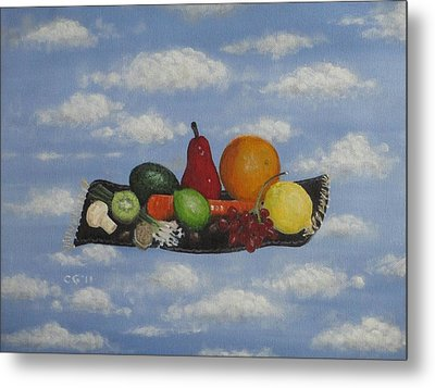Solomon's Flying Feast Metal Print by Christina Glaser