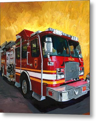 Solon Fire Engine Metal Print