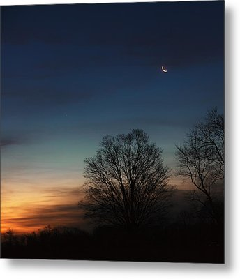 Solstice Moon Square Metal Print by Bill Wakeley