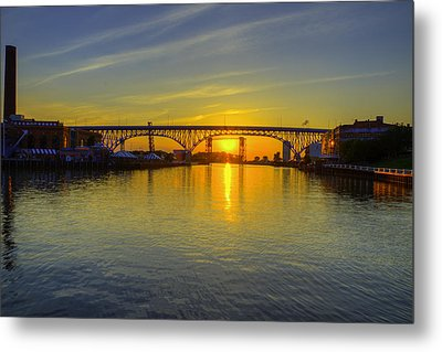 Solstice On The Cuyahoga River Metal Print