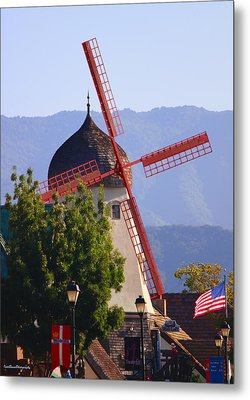 Solvang Windmill Metal Print by Ivete Basso Photography
