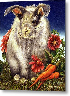 Some Bunny Is A Fuzzy Wuzzy Metal Print by Linda Simon