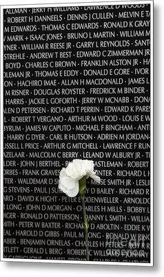 Some Gave All - Vietnam Veterans Memorial Metal Print by Edward Fielding