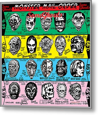 Some Ghouls Metal Print by Sasha Alexandre Keen