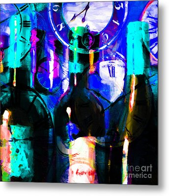 Some Things Get Better With Time - Square P180 Metal Print by Wingsdomain Art and Photography