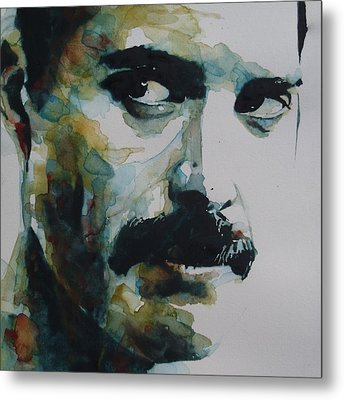 Freddie Mercury Metal Print by Paul Lovering