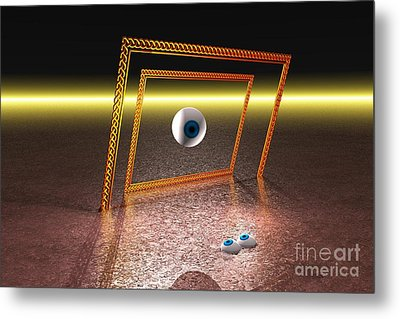 Metal Print featuring the digital art Somebody's Watching Me by Jacqueline Lloyd