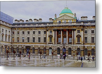 Somerset House Metal Print by MaryJane Armstrong