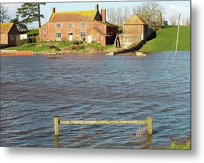 Somerset Levels Floods Metal Print