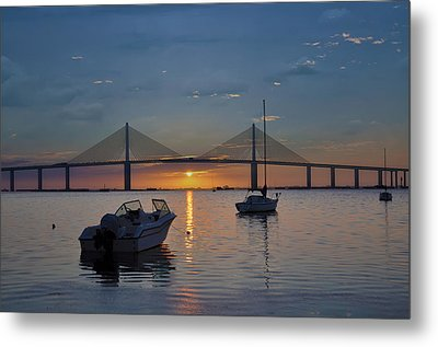 Something About A Sunrise Metal Print by Bill Cannon