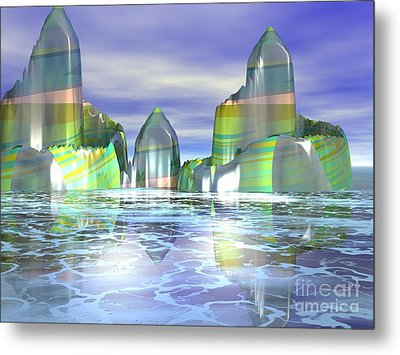 Metal Print featuring the digital art Something Colorful by Jacqueline Lloyd