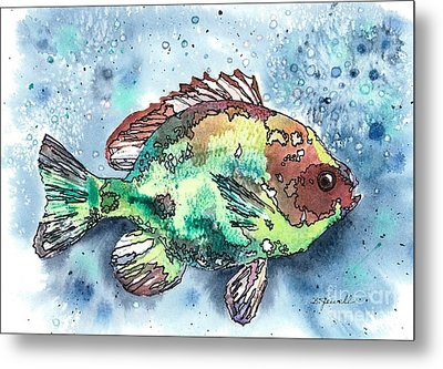 Metal Print featuring the painting Something's Fishy by Barbara Jewell