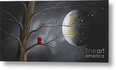 Sometimes He Just Wants To Be Alone By Shawna Erback Metal Print by Shawna Erback