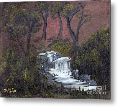 Somewhere Along A Waterfall Metal Print by J Cheyenne Howell