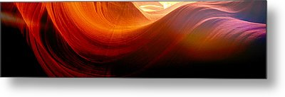 Metal Print featuring the photograph Somewhere In America Series - Red Waves In Antelope Canyon by Lilia D
