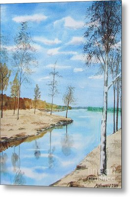 Metal Print featuring the painting Somewhere In Dalarna by Martin Howard