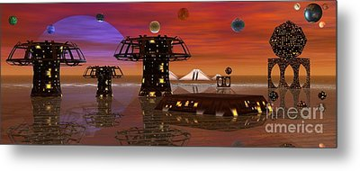 Metal Print featuring the digital art Somewhere In Space by Jacqueline Lloyd