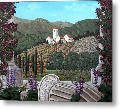 Somewhere In Tuscany Metal Print by Gerry High