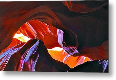 Metal Print featuring the photograph Somewhere In Waves In Antelope Canyon by Lilia D