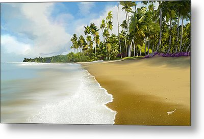 Metal Print featuring the digital art Somewhere Near Forever by Anthony Fishburne