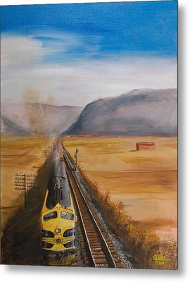 Somewhere West Of Corning Metal Print by Christopher Jenkins