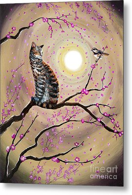Song Of The Chickadee Metal Print by Laura Iverson
