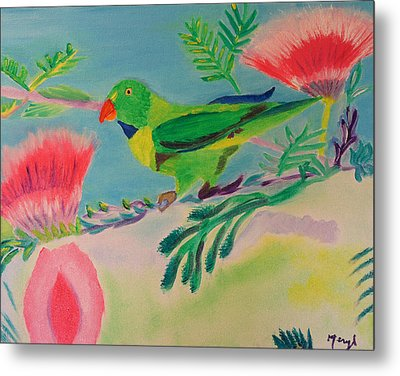 Metal Print featuring the painting Songbird by Meryl Goudey
