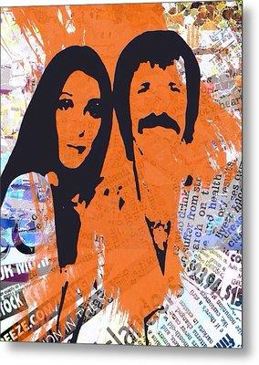 Sonny And Cher Metal Print by Trisha Buchanan