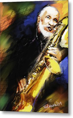Sonny Rollins Groovin' The Sax Metal Print
