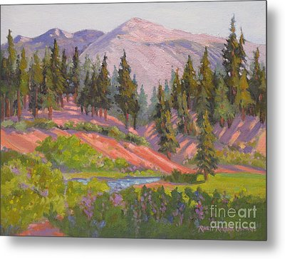 Sonora Pass Meadow Metal Print by Rhett Regina Owings