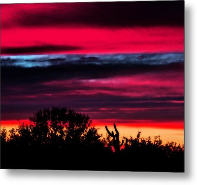 Sonoran Sunset Tucson Desert Metal Print by Jon Van Gilder