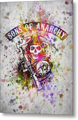 Sons Of Anarchy In Color Metal Print by Aged Pixel