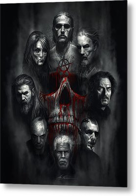 Sons Of Anarchy Tribute Metal Print by Alex Ruiz