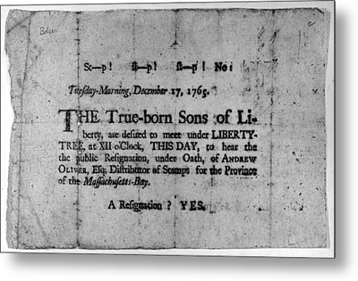 Sons Of Liberty Broadside Metal Print by Granger