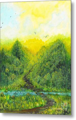 Metal Print featuring the painting Sonsoshone by Holly Carmichael