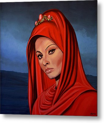 Sophia Loren 2  Metal Print by Paul Meijering
