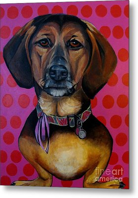 Sophia - My Rescue Dog  Metal Print