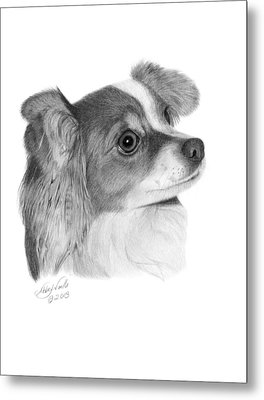 Metal Print featuring the drawing Sophie - 013 by Abbey Noelle
