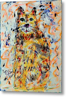 Sophisticated Cat 3 Metal Print by Natalie Holland